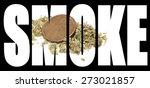smoke marijuana  | Shutterstock . vector #273021857