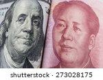 Stock photo dollars and rmb currency 273028175