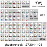 illustrations of the world with ... | Shutterstock .eps vector #273044405