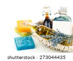 essential various oils with... | Shutterstock . vector #273044435