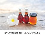 essential oils from coconut on... | Shutterstock . vector #273049151