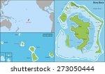 bora bora is an island in the... | Shutterstock .eps vector #273050444
