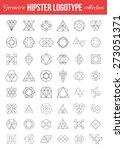 set of vintage geometric... | Shutterstock .eps vector #273051371