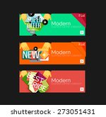 set of banners with stickers ... | Shutterstock .eps vector #273051431