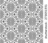 hexagonal abstract connection... | Shutterstock .eps vector #273051551