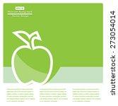 green apple flat icons. vector... | Shutterstock .eps vector #273054014