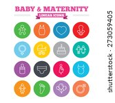 Baby And Maternity Linear Icon...