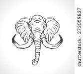 elephant face logo emblem...   Shutterstock .eps vector #273059837