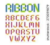 ribbon alphabet. vector. | Shutterstock .eps vector #273059879