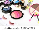 different cosmetics isolated on ... | Shutterstock . vector #273060929