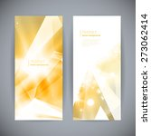 set of abstract 3d gold... | Shutterstock .eps vector #273062414