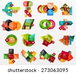 collection of modern business... | Shutterstock .eps vector #273063095