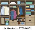 wardrobe room full of men's...