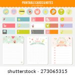 romantic and love cards  notes  ... | Shutterstock .eps vector #273065315