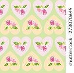 love rose pattern   seamless... | Shutterstock .eps vector #273070649