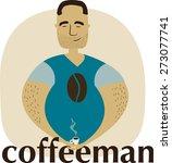 man drinking coffee    Shutterstock .eps vector #273077741