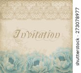 vintage flower card with... | Shutterstock .eps vector #273078977