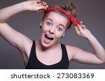 beautiful young woman | Shutterstock . vector #273083369