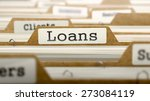 loans concept. word on folder... | Shutterstock . vector #273084119