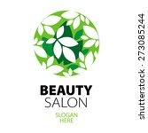green ball of leaves logo for...   Shutterstock .eps vector #273085244