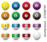 collection of pool balls... | Shutterstock .eps vector #27308749