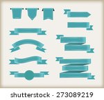 ribbon banner set.vector... | Shutterstock .eps vector #273089219