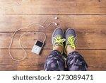 unrecognizable young runner... | Shutterstock . vector #273089471