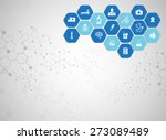 medical background and icons to ... | Shutterstock .eps vector #273089489