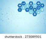 medical background and icons to ... | Shutterstock .eps vector #273089501