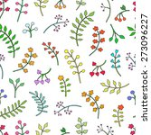 vector floral seamless pattern... | Shutterstock .eps vector #273096227
