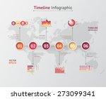 timeline vector infographic....   Shutterstock .eps vector #273099341