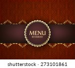 menu restaurant or bistro... | Shutterstock .eps vector #273101861