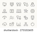 network hosting and servers... | Shutterstock .eps vector #273102605