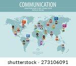communication vector logo... | Shutterstock .eps vector #273106091