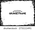 Abstract Grunge Frame. Vector...