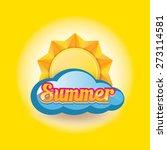 beautiful summer illustrations .... | Shutterstock .eps vector #273114581