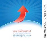 red arrow business template | Shutterstock .eps vector #273117071