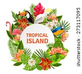 Tropical Island Circlet Of...