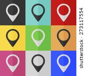 map pointer vector icon  ... | Shutterstock .eps vector #273117554