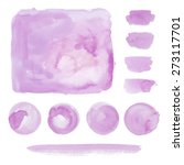 collection of watercolor... | Shutterstock . vector #273117701