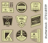 set of vintage premium quality... | Shutterstock .eps vector #273118559