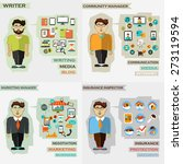 set of professions. writer ... | Shutterstock .eps vector #273119594
