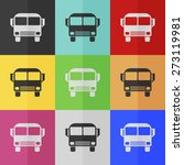 bus vector icon   colored set.... | Shutterstock .eps vector #273119981