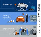 mechanic horizontal banners set ... | Shutterstock .eps vector #273120104