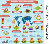 amusement infographics set with ... | Shutterstock .eps vector #273120941