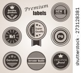 set of labels. premium quality... | Shutterstock .eps vector #273128381