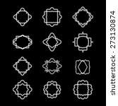 monogram design templates.... | Shutterstock .eps vector #273130874