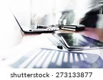 abstract image of business... | Shutterstock . vector #273133877