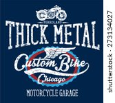 vintage motorcycle t shirt... | Shutterstock .eps vector #273134027