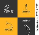 line art badge or logo template.... | Shutterstock .eps vector #273136727